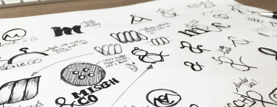 Misch & Co - Logo Design Initial Sketches
