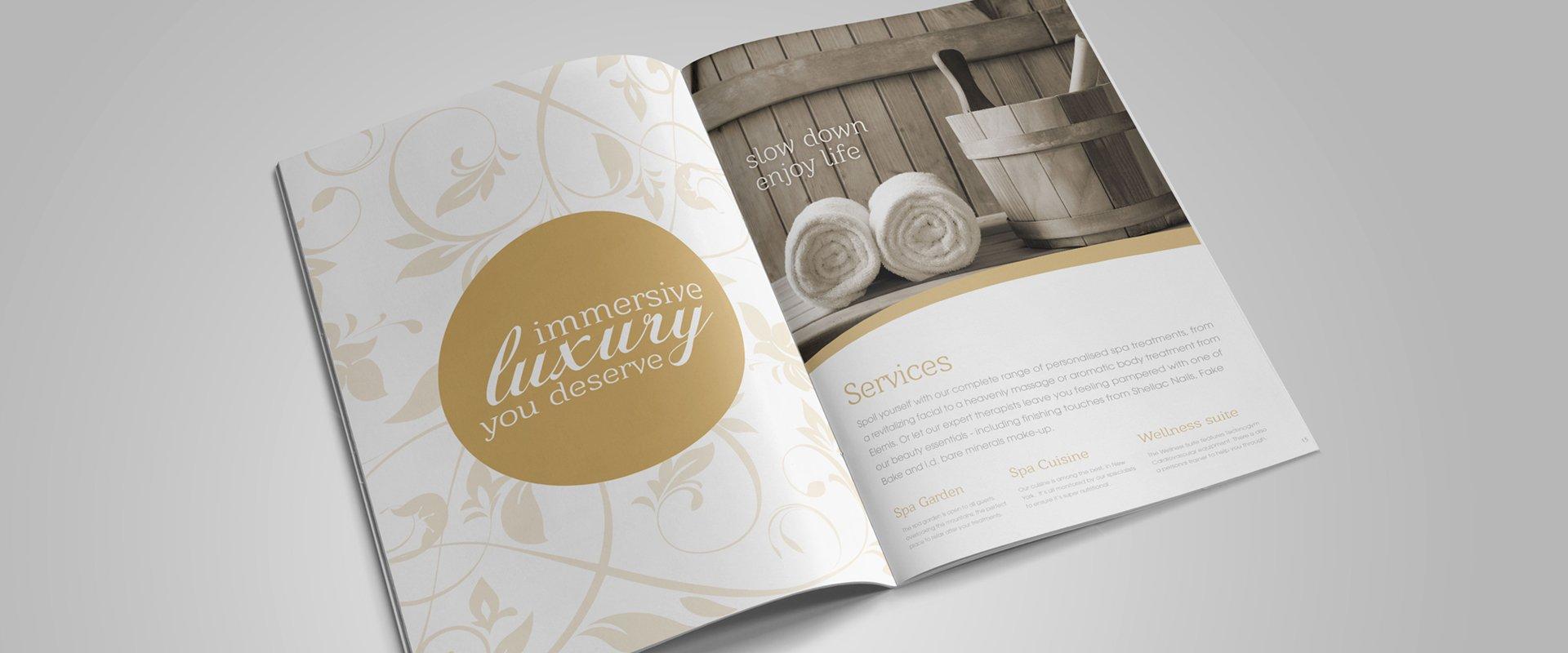 Windham Spa Brochure Design for Print – Spa Brochure